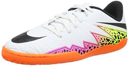 Nike Junior Hypervenom Phelon Ii Ic, Chaussures de Football Amricain Mixte Enfant, Multicolore Blanc (White/Black Total Orange Volt)