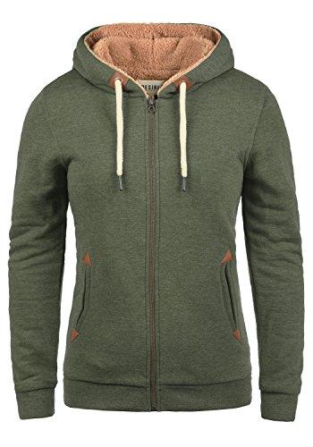 DESIRES Vicky Pile-Zip Damen Sweatjacke Cardigan Sweatshirtjacke Mit Teddy-Futter, Größe:M, Farbe:Climb Ivy (8785)