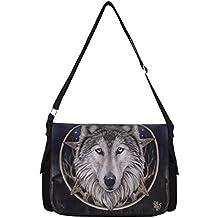 The Wild One Lisa Parker - Bolso bandolera, diseño gótico con lobo