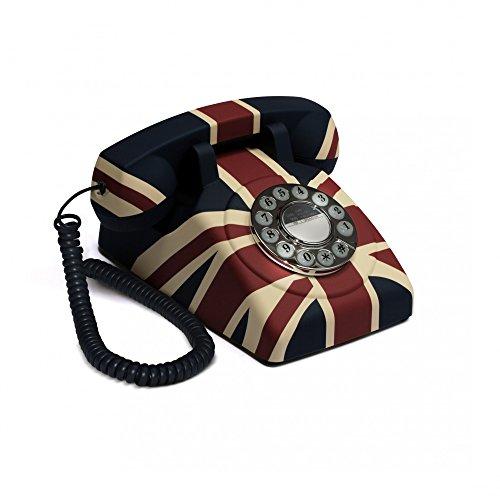 GPO Vintage - Teléfono fijo de estilo antiguo (botones a presión), d