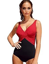 LaLaAreal Bikini Natacion Traje de Baño Una Pieza Bañador Mujer Alta Cintura Push ...