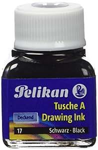 Pelikan - 1 Flacon d'encre de Chine de couleur Noire - 10 ml