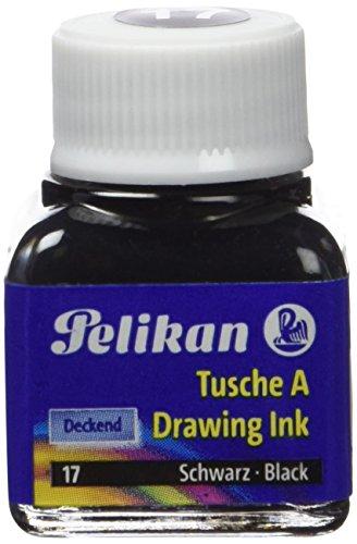 Pelikan Tusche A, Inhalt: 10 ml im Glas, schwarz (17) VE=1