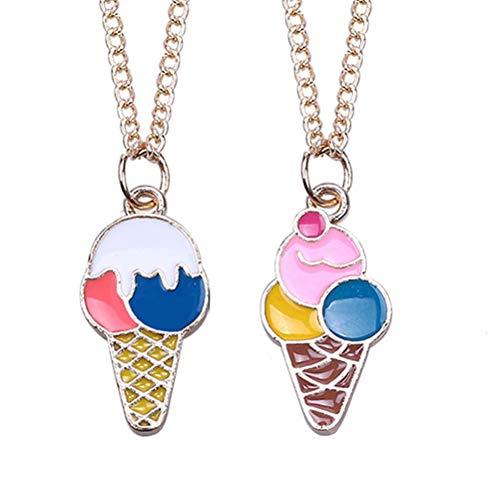 Toyvian Eis Anhänger Halskette Beste Freunde Für Immer Halskette Damen Mädchen Schmuck Geschenke 2 stücke