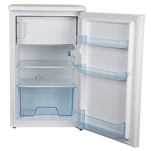 41qmRUb6yuL. SS500  - Igenix IG350R Freestanding Under Counter Fridge with Ice Box, 1 Adjustable Glass Shelf and Salad Drawer with Glass Cover…