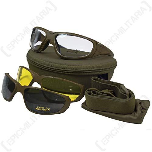 Multi lente táctico militar para gafas de seguridad en verde oliva