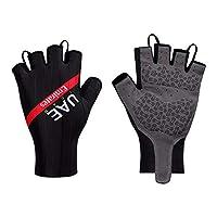 Upten Cycling Bike Bicycle Motorcycle Shockproof Foam Padded Outdoor Sports Half Finger Short Riding Biking Glove Working Gloves (Black, XL)