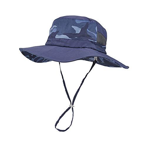 HDBCNC Fischerhut, Sun Cap Breiter Krempe Sonnenhut für Männer Frauen Teenager Outdoor Camping Wandern, One Size, Stoffmütze