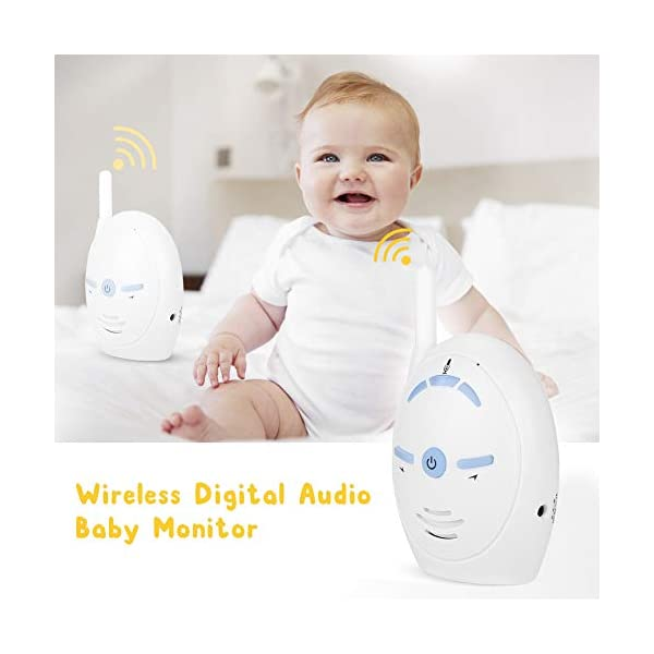 Digital Audio Baby Monitor - Wireless Digital Audio Baby Monitor Nanny Intercom Electronic Alarm Two-Way and Talk Back Intercom(UK)  ✿✿Built-in microphone for two-way conversation and audio monitoring. Whenever you use this baby monitor, you can talk to your baby anytime, anywhere. ✿✿Made of high-quality materials, it is corrosion-resistant, wear-resistant, durable and can be used for a long time. Easy to match, plug and play. ✿✿Sensitive, you can easily hear the baby crying and inform your parents. When you are not around your child, our baby monitor is your best helper! 3