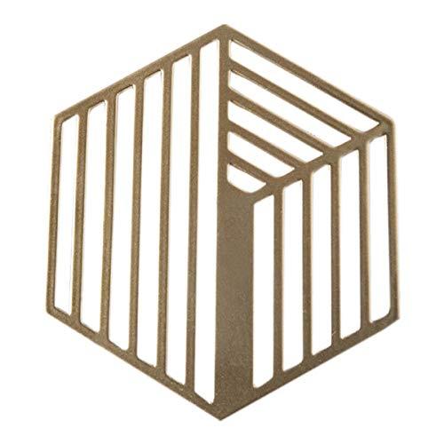 JUNMAONO Hohl Metall Serie Rutschfeste Waschbare Untersetzer, Wohnzimmer Küche Hitzebeständige Rutschfeste Lsolierung Tischläufer Für Küche Esszimmer Tischdekoration (2) - Runde Esszimmer-serie