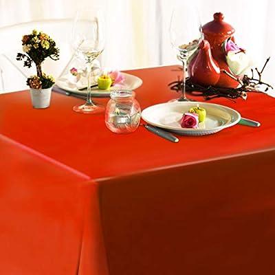 casa pura® Wachstischdecke Orange | abwaschbar | ideale Größe wählbar, Meterware von casa pura auf Gartenmöbel von Du und Dein Garten