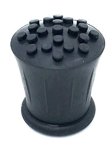Gehstock-Endstück aus Gummi, 19 mm, Schwarz, 2 Stück