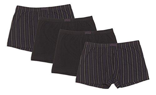 Herren Retro-Pants aus Baumwolljersey, Pants für Männer, Shorts Herren, 4er Pack von Größe 5/M bis14/6XL - Frank Fields, Farbe:schwarz, Größe:10