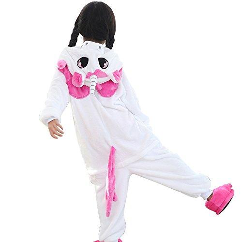 Kinder-Pyjama / Overall, Einhorn-Design, Unisex, Kigurumi-Outfit, toll als Verkleidung und für Cosplay, rose, ()
