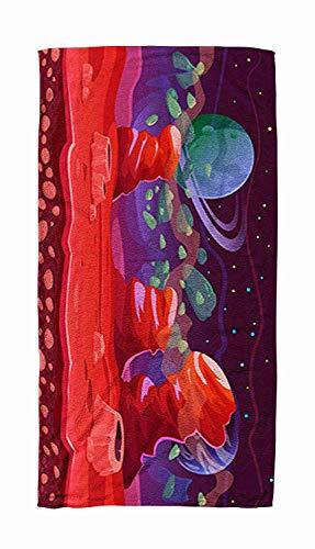 Kindertuch, Kinder, Baby, Frauenund Männer Strandtücher Science-Fiction-Thema Fantasy-Szene Spiel Red Planet Landscape Große Badetücher für Körperbad, Schwimmen, Reisen, Camping, Sport 80x130cm