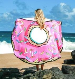 Piscina circular y toalla de playa Giant Donut - Diseños surtidos
