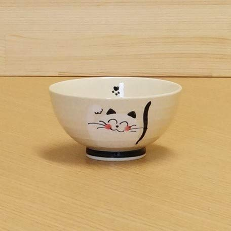 Imari Arita Pottery 13701012 Mini-Fressnapf, Motiv lächelnde Katze, Blau