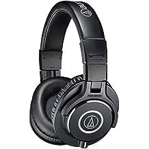 Audio-Technica ATH-M40X - Auriculares de diadema cerrados (40 mm, Jack 3.5 mm, plegable), negro