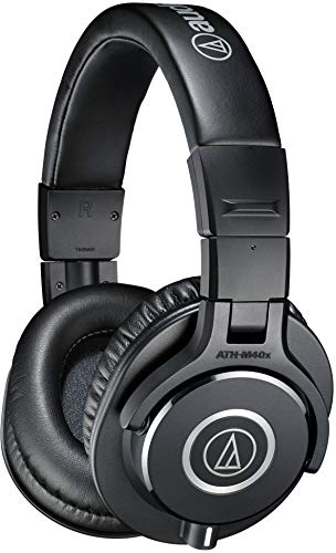 Audio-Technica ATH-M40X Professional Studio Monitor Over-Ear Headphones (Black)