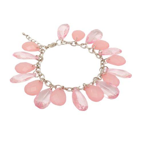Bedazzled-Braccialetto rosa con perline pendenti, in confezione