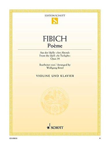 Poème Op. 39 Violon