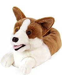 AnimalSlippers.com mens corgi zapatillas