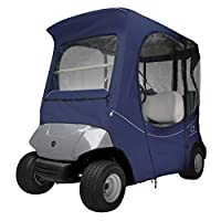 Classic Accessories Fairway Golf Cart FadeSafe Enclosure for Yamaha, Short Roof, Navy
