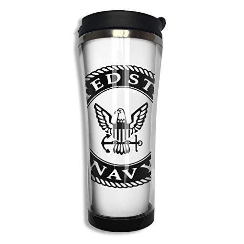 United States Navy Logo 420ml Stainless Steel Coffee Cup Tea Mug Travel Vacuum Insulated Mugs Hot Cold Tumbler -