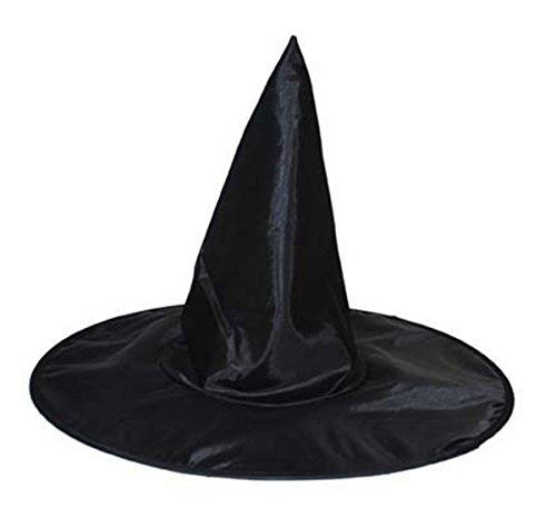 Metallic Hut Hexe (Karnevalsbud - Halloween Hut- Zauberer Hexen Kostüm Kopfbedeckung Zylinder Kinder,)