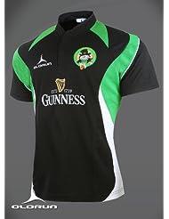 Olorun Drunken Leprechauns Supporters negro Rugby Camisa S-4X L