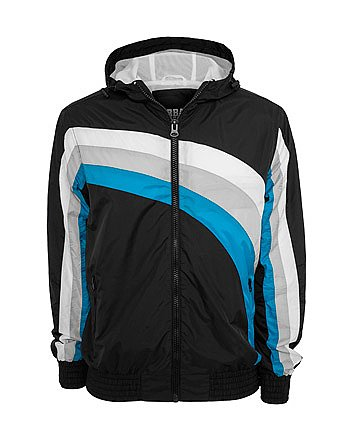 Urban Classics - RACING Coupe-Vent noir / turquoise