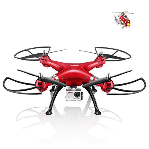 Preisvergleich Produktbild Syma X8HG (Upgrade Syma X8G) 2,4 GHz 6-Achsen-Gyro RC Ferngesteuerte Quadcopter Drone Quadrocopter Drohne mit 8MP HD-Kamera Einen Höhenstabilisator-Rote