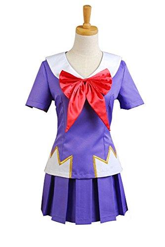 Elecos Future Diary Gasai Yuno Cosplay Kostüm Damen Lila XXXL