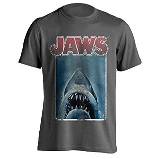 Jaws - Distressed Poster - Officiel T-Shirt pour Hommes - Gris, XL