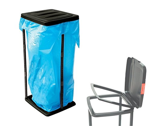 *Müllsackständer Abfallsackhalter 60 l bis 120 Liter Müllsack mit Deckel Müllständer Wertstoffbehälter Müllbeutelhalter für Gelber blau Sack Abfall Abfalleimer Müllbeutel Gelbe Tonne Ständer Behälter Halterung Abfallsack*