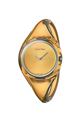 CK Damen-Armbanduhr Analog Quarz Plastik K4W2SXF6
