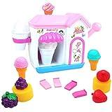 Akokie Bath Toys, Toy Ice Cream Maker Bubble Foam Play Machine Bathtub Toys 10Pcs Pretend Play for Children 18 M+
