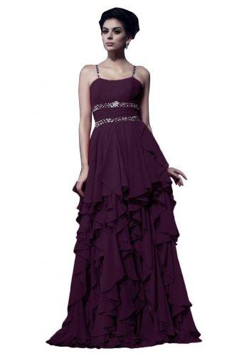 Sunvary in Chiffon, lunga, taglia Gowns formale Spaghetti Grape