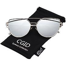CGID MJ809 Lunettes de soleil Pilot polarisées standard métalliques classiques originales Flash réfléchissantes verres UV400 qkG4mZI