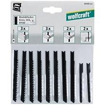 Wolfcraft 8440000 - 10 hojas de sierra de calar vástago en U / Contenido: madera