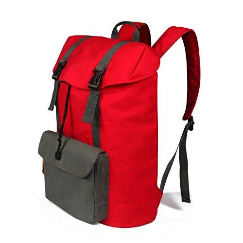 Großvolumige Tasche Oxford Im Freien Wandernden Freizeit Reisetasche Camping Rucksack red