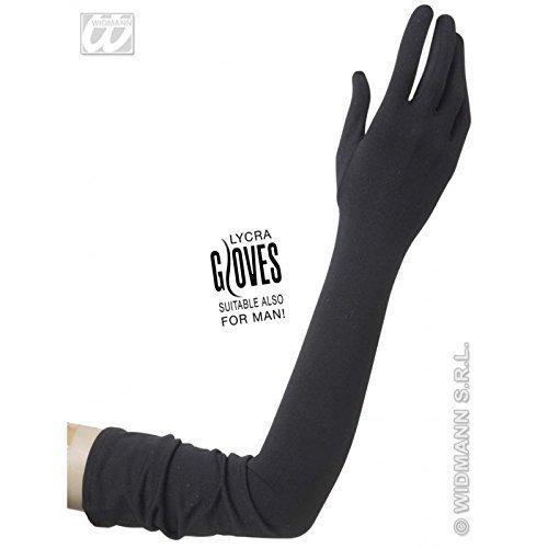 Schwarze Handschuhe extra (Finger Handschuhe Kostüm Lange)