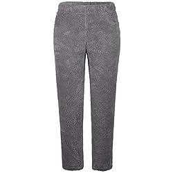 Yacun Femme Pantalon en Molleton Pyjama PJ en Peluche Bas Hiver Nuit Chaude Gris M