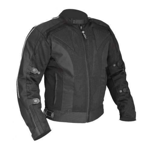 Veste de Moto d'été en Cordura/Mesh Chicane - imperméable/Renforts CE - Noir - L