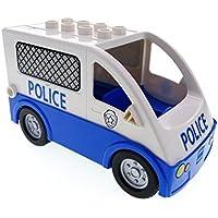 Besten Preis für Bausteine gebraucht 1 x Lego Duplo Auto blau weiß Van Typ 2 Polizei Polizeistreife Transporter Police Wagen für Set 5602 58236pb02 1406c02pb01 bei kleinkindspielzeugpreise.eu