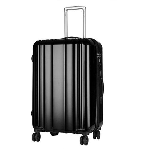 WindTook Hartschale Trolley Koffer Reisekoffer,4 Rollen,20-24inch in 2 Farben