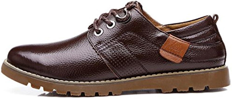 Zapatos de cuero nuevos para hombres Zapatos de cuero para hombres Zapatos cómodos para caminar Zapatos con cordones...