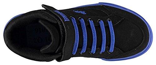 Lonsdale , Baskets mode pour garçon noir/bleu