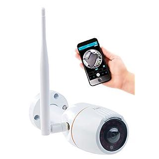 7links Aussenkamera: 360°-Panorama-IP-Außen-Überwachungskamera, WLAN, Nachtsicht, App, IP66 (WLAN Camera)