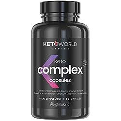 KETO COMPLEX - Puissant Brûleur de Graisse & Coupe Faim Efficace - Idéal pour Régime Cétogène - Maigrir Plus Rapidement - Perte de Poids pour Homme & Femme - 60 Gélules - WeightWorld